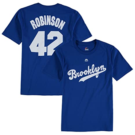 e09875347 Jackie Robinson Brooklyn Dodgers MLB Youth Name & Number Player T-shirt #42  (