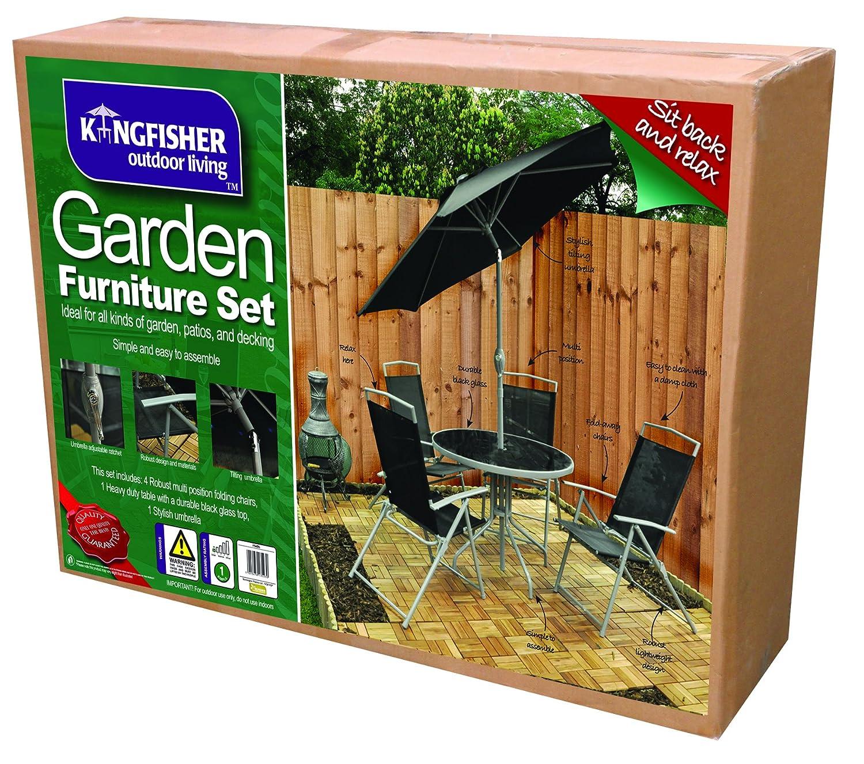 Kingfisher FS6DL 4 Seater Deluxe Garden Furniture Patio Set