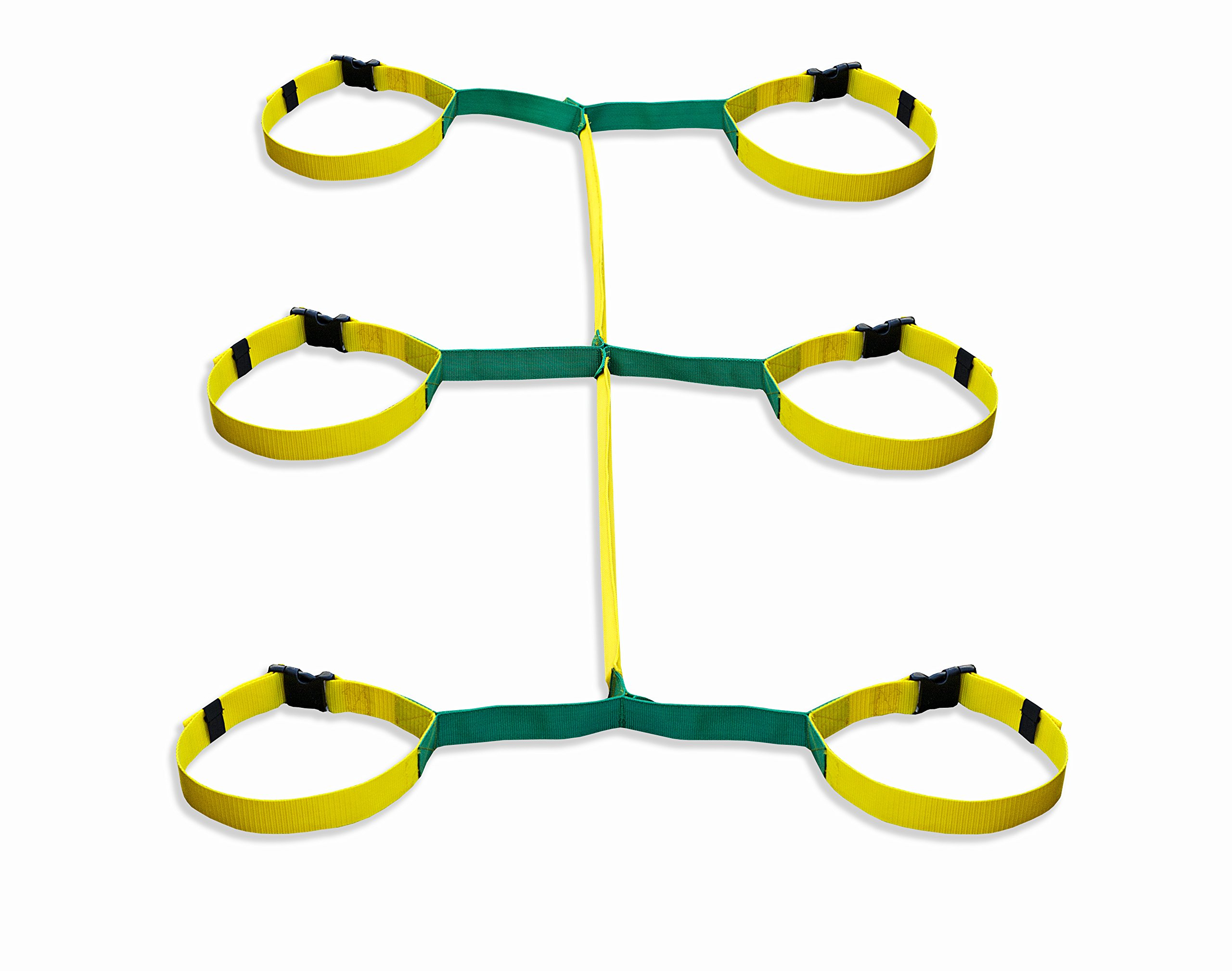 Walkodile Safety Web (6 Child), Childrens Walking Rope, Daycare Walking Leash. Also Includes Free Learning Games for Walks Guide