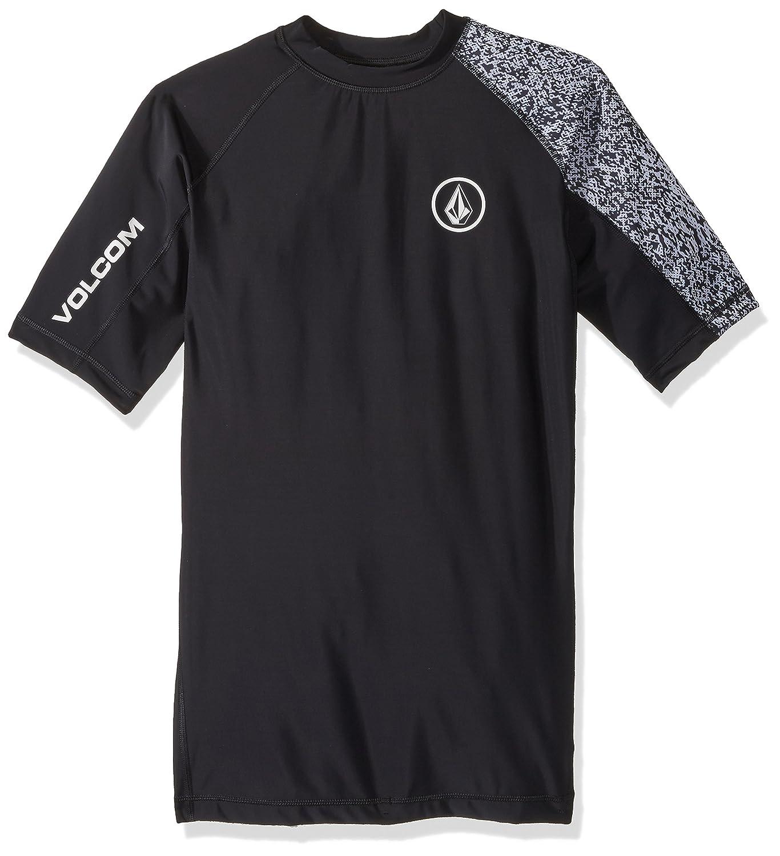 (ボルコム) VOLCOM < メンズ > 半袖 ラッシュガード Tシャツ (紫外線カット: UPF50+) [ N0111802/Lido Block S/S ] 水着 スポーツ B072LWCWSV XX-Large ブラック ブラック XX-Large