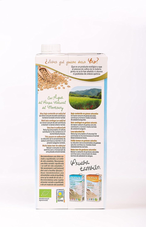 MONSOY Bebida de Almendras Ecologica 1L [caja de 4 x 1L]: Amazon.es: Alimentación y bebidas