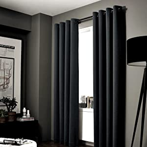 GorgeousHomeLinen (NOA) 1 Solid Panel 100% Room Darkening Insulated Thermal Lined Blackout Window Grommets Curtain (84
