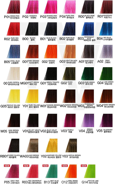 Anthocyanin Hair Manicure Color 230g (W03 CHOCOLATE BROWN) - Tinte de Pelo Semi Permanente - Color del Tentador - Protección UV - Proteína Vegetal