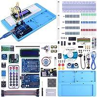UNIROI Arduino UNO Starter Kit pour Débutant, Amélioré Kit de Démarrage Projet pour Arduino UNO R3 Mega 2560 Robot Nano Breadbroad Kit