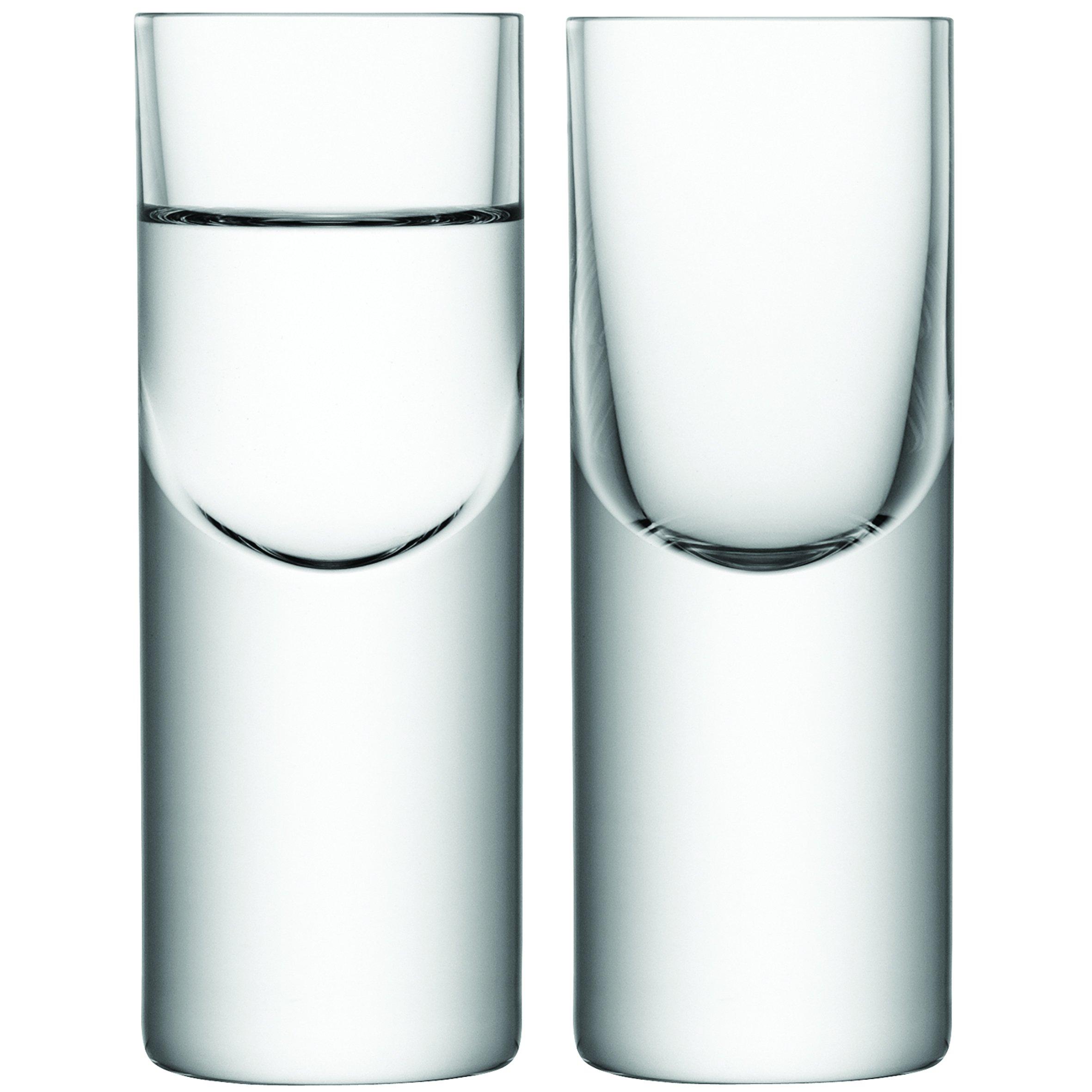 LSA International Boris Shot Glass (2 Pack), 1.7 fl. oz., Clear