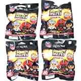 Party Animal - 4 Pack Bundle - Squeezymates Series 2 Mystery Blind Pack Bag NFL Football Figure Slofoam Keychain
