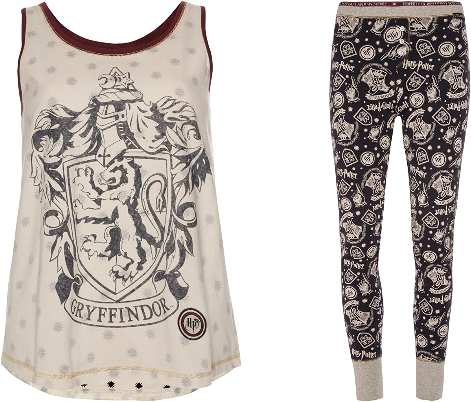 Harry Potter – Las niñas Pijama Chaleco Top & Leggings Gris Harry ...