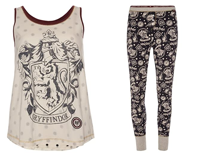 Harry Potter – Las niñas Pijama Chaleco Top & Leggings Gris Harry Potter M