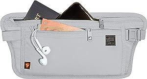 Lewis N. Clark RFID Blocking Money Belt Travel Pouch + Credit Card, ID, Passport Holder, Gray, One Size