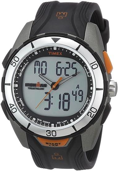Timex Modern Dual Tech T5K402 - Reloj de Caballero de Cuarzo, Correa de Goma Color Negro: Timex: Amazon.es: Relojes