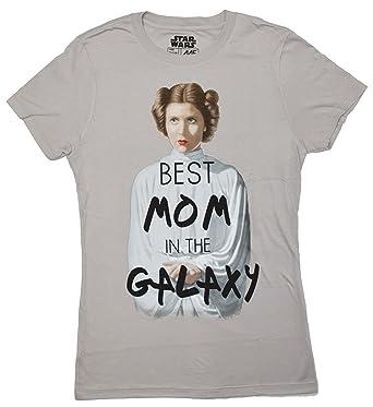 87b5b5a5 Amazon.com: Star Wars Princess Leia Best Mom in The Galaxy Juniors T-Shirt:  Clothing