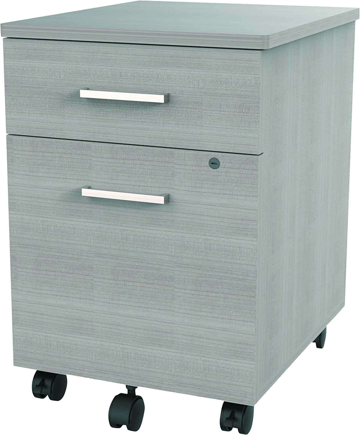 Cherry Linea Italia SV752CH Seven Series Mobile Pedestal File Box//File Drawer
