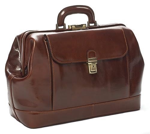 822dadc537 Doctor's Bag - Borsa medico in classica pelle vitello tamponata a mano,  prodotta esclusivamente in