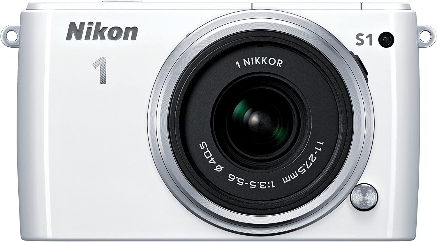 Nikon 1 S1 10.1 MP HD Digital Camera with 11-27.5mm 1 NIKKOR Lens (White)