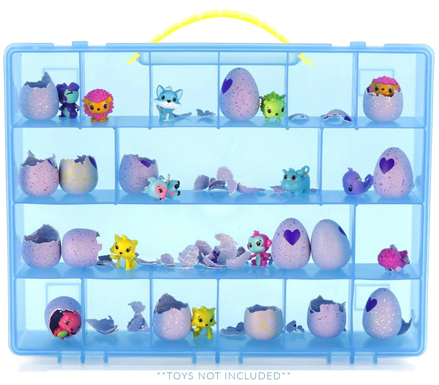 Life Made Better My Egg Crate Storage Organizer Compatible the Hatchimals Hatchimal Colleggtibles brands - Durable Carrying Case Mini Eggs, Easter Eggs & Speckled Eggs – Blue LMB86