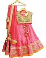 ShreeBalaji Creation Lehenga Choli (SBL-Loy-01-04_Multicolor_Free Size )