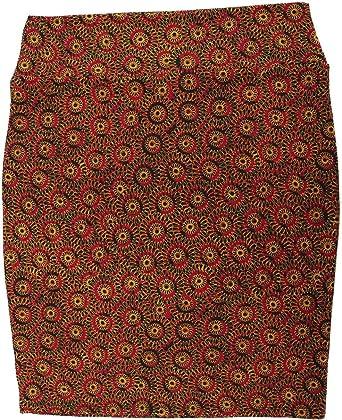 NWT LuLaRoe 3XL Cassie Skirt brown orange gold FALL pencil textured Pull On