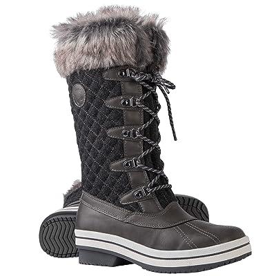 ArcticShield Women's Melissa Warm Waterproof Insulated Fur Collar Durable Winter Snow Boots | Snow Boots