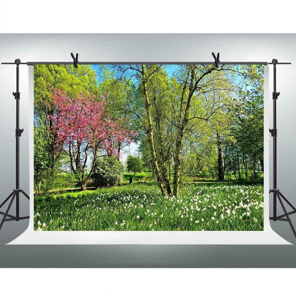 FHzON 10 x 7ft Nature Landscapeの写真の背景グリーンツリーGrass公園旅行Distraction Backdrop Youtube Backdropsテーマパーティー写真ブース小道具gefh348   B07FYW3VGZ