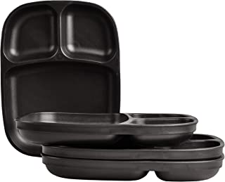 "product image for Re-Play Recycled Products, Set of 4 (10"" Divided Tray, Black)"