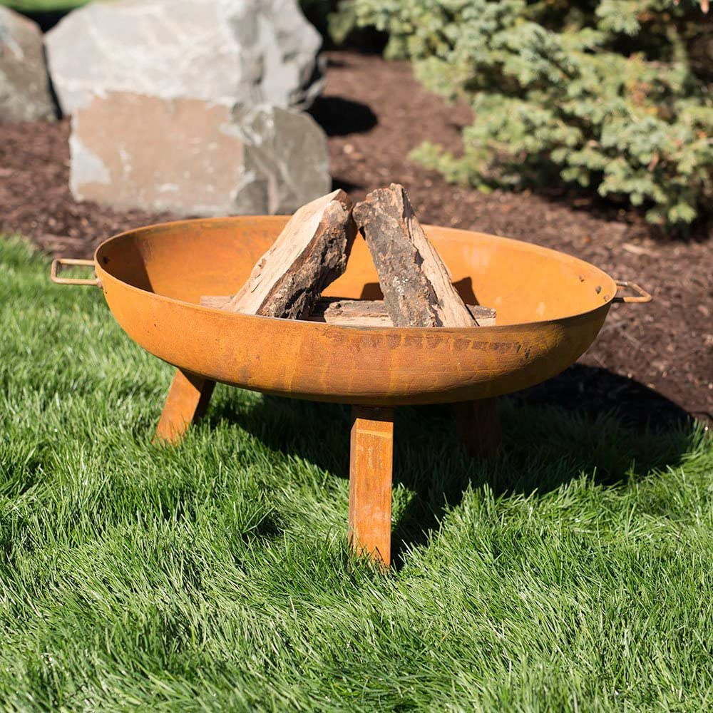 Sunnydaze 30 Inch Fire Pit Bowl Large Outdoor Bonfire Wood-Burning Pit for Outdoor Patio /& Backyard Use Steel Colored Cast Iron