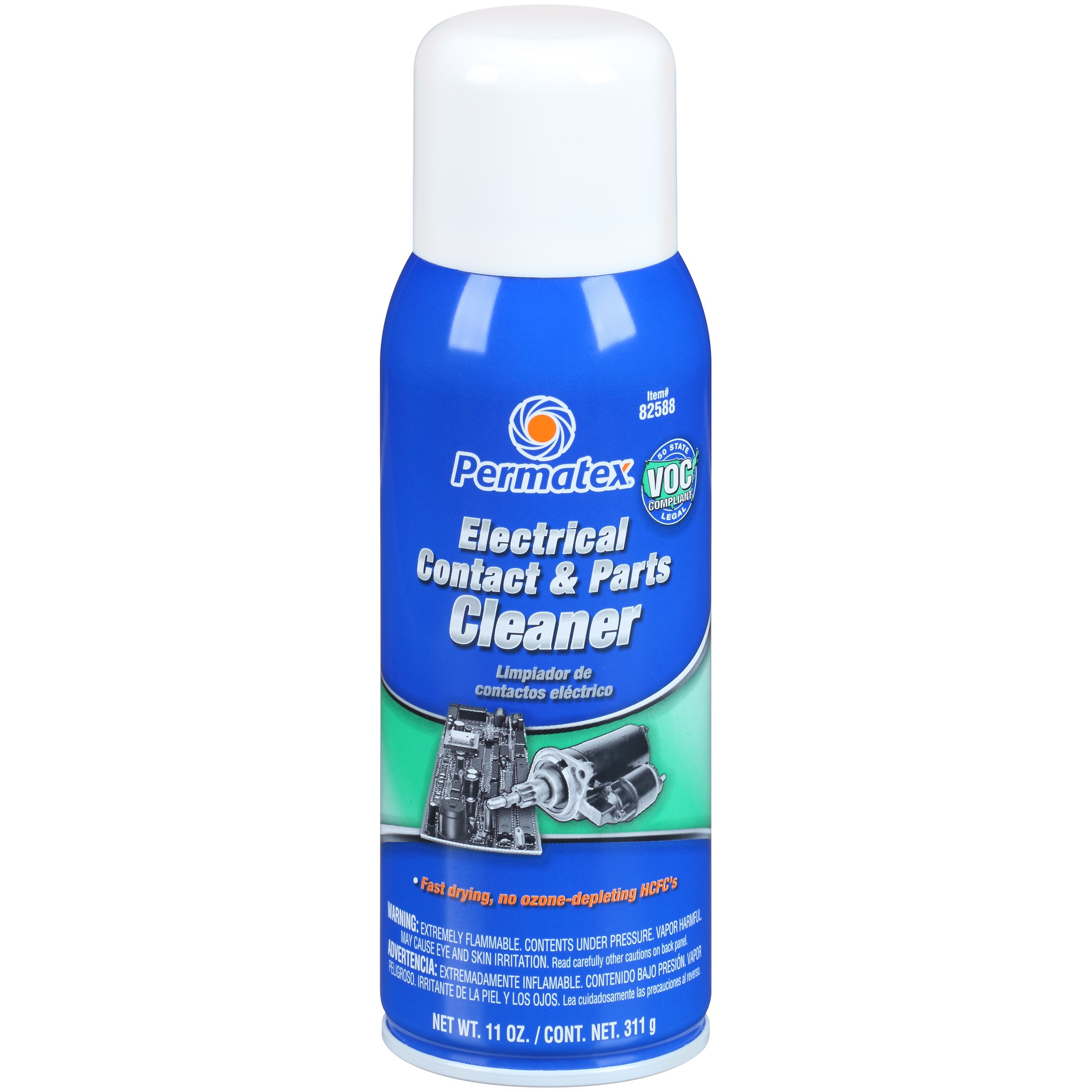 Permatex 82588-12PK Electrical Contact and Parts Cleaner - 11 oz., (Pack