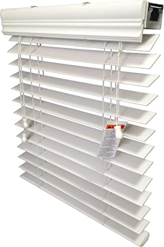 US Window And Floor 2 Inch Faux Wood Blind White 66.5 x 60 inches, 66 1 2 x 60