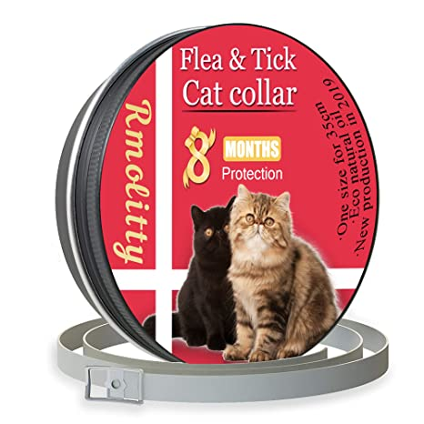 Rmolitty Collar Antiparasitario para Gatos, contra Pulgas, Garrapatas y Mosquitos 8 Meses de Protección