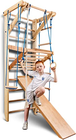 Escalera Sueca Barras de Pared Sport-3-240, Gimnasia de los niños en casa, Complejo Deportivo de Gimnasia: Amazon.es: Juguetes y juegos