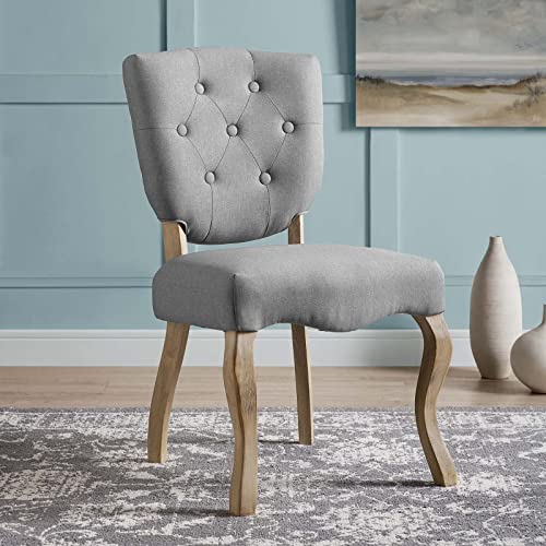 Modway Array French Vintage Tufted Upholstered Fabric Dining Chair