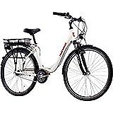 Telefunken E-Bike Damen Elektrofahrrad Alu, weiß, 7 Gang Shimano Nabenschaltung - Pedelec Citybike leicht, Mittelmotor 250W und 10Ah/36V Lithium-Ionen-Akku, Reifengröße: 28 Zoll, Multitalent C750