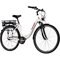 Telefunken E-Bike Elektrofahrrad Alu, weiß, 7 Gang Shimano Nabenschaltung - Pedelec Citybike leicht, Mittelmotor 250W und 10Ah/36V Lithium-Ionen-Akku, Reifengröße: 28 Zoll, Multitalent C750