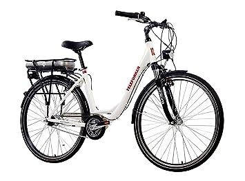 Telefunken E Bike Elektrofahrrad Alu Weiß 7 Gang Shimano