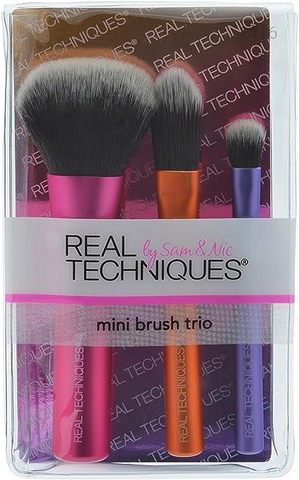3 Pack) Real Techniques Mini Brush Trio - Mini Brush Trio by Real Techniques: Amazon.es: Belleza