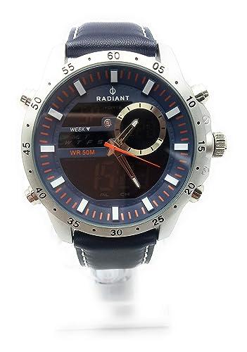 Reloj Radiant Caballero.Correa Cuero Azul.RA485703
