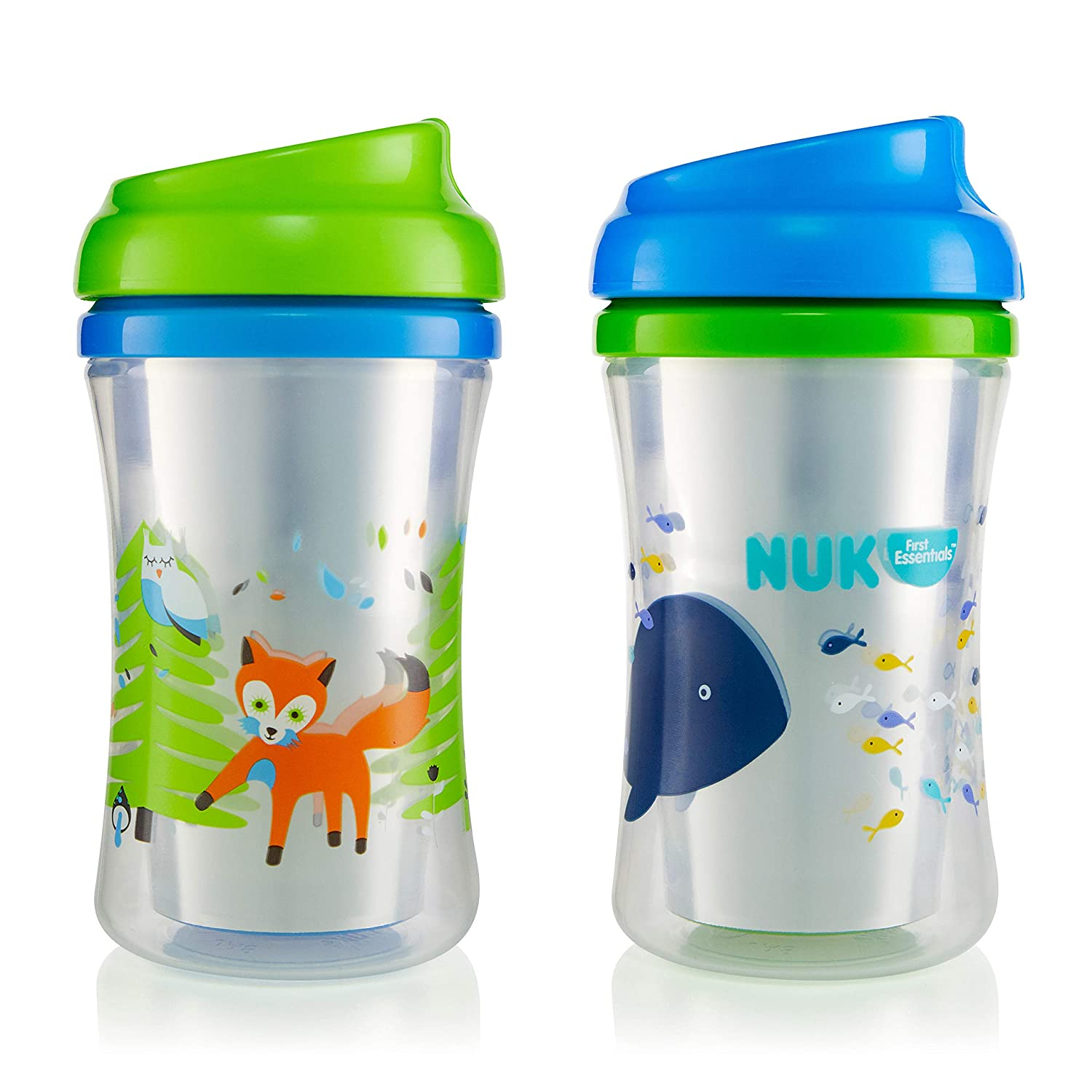 NUK Gerber Graduates Advance 2 Piece with Seal Zone Insulated Cup-Like Rim Si...