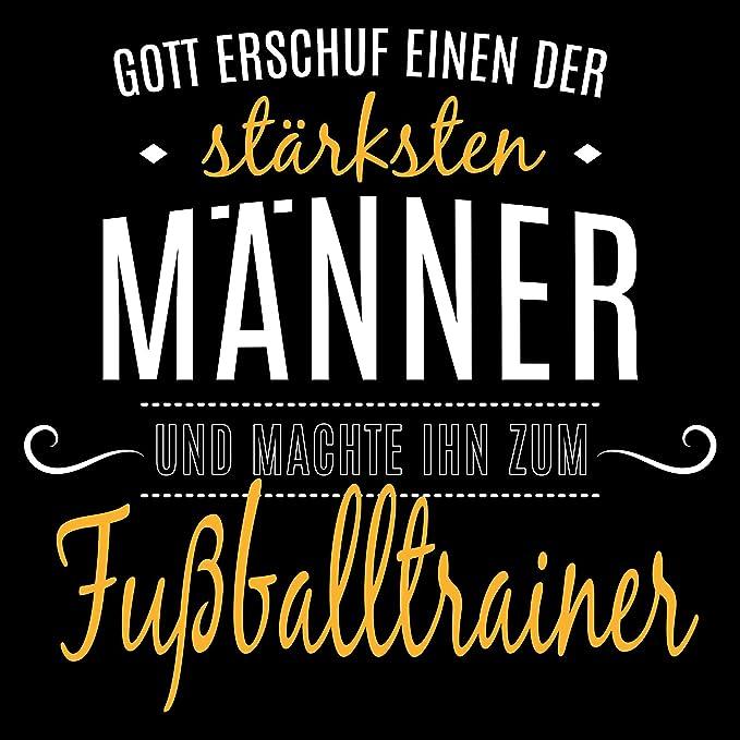 Fashionalarm Herren T Shirt Gott Machte Ihn Zum Fussballtrainer Fun Shirt Mit Spruch Lustige Geschenk Idee Trainer Sport Lehrer Fussball Beruf