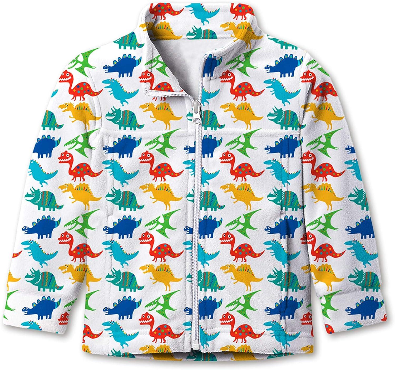 Kids4ever Baby Boys Girls Polar Fleece Jacket Full-Zip Lightweight Coat for 1T-4T Kids