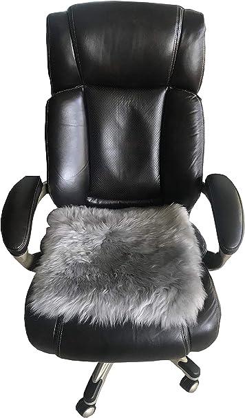 Genuine Sheepskin Long Wool Cushion Sheepskin Car Seat Covers Auto Seat Pad Fuzzy Car Seat Cover Office Chair Cushion Fluffy Wool Seat Cover Soft Warm Winter Sheepskin Seat Cushion Light Grey Amazon Ca