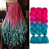 SONNET Ombre Braiding Hair Kanekalon 3bundles/lot 300g Colored Hair Extension Jumbo Braid Hair Box Twist Crochet Braiding Hai