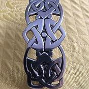 offen gefertigte keltische Haarspange aus massivem Zinn Celtic Loop