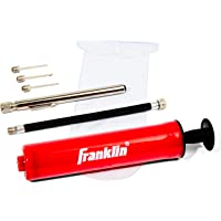 Franklin Sports Ball Maintenance Kit: Pump, Needles, Flexible Hose, Pressure Gauge and Carry Bag— Pump for Soccer Balls, Basketballs, Volleyballs and Footballs — Sidelines Ball Pump — Complete Kit
