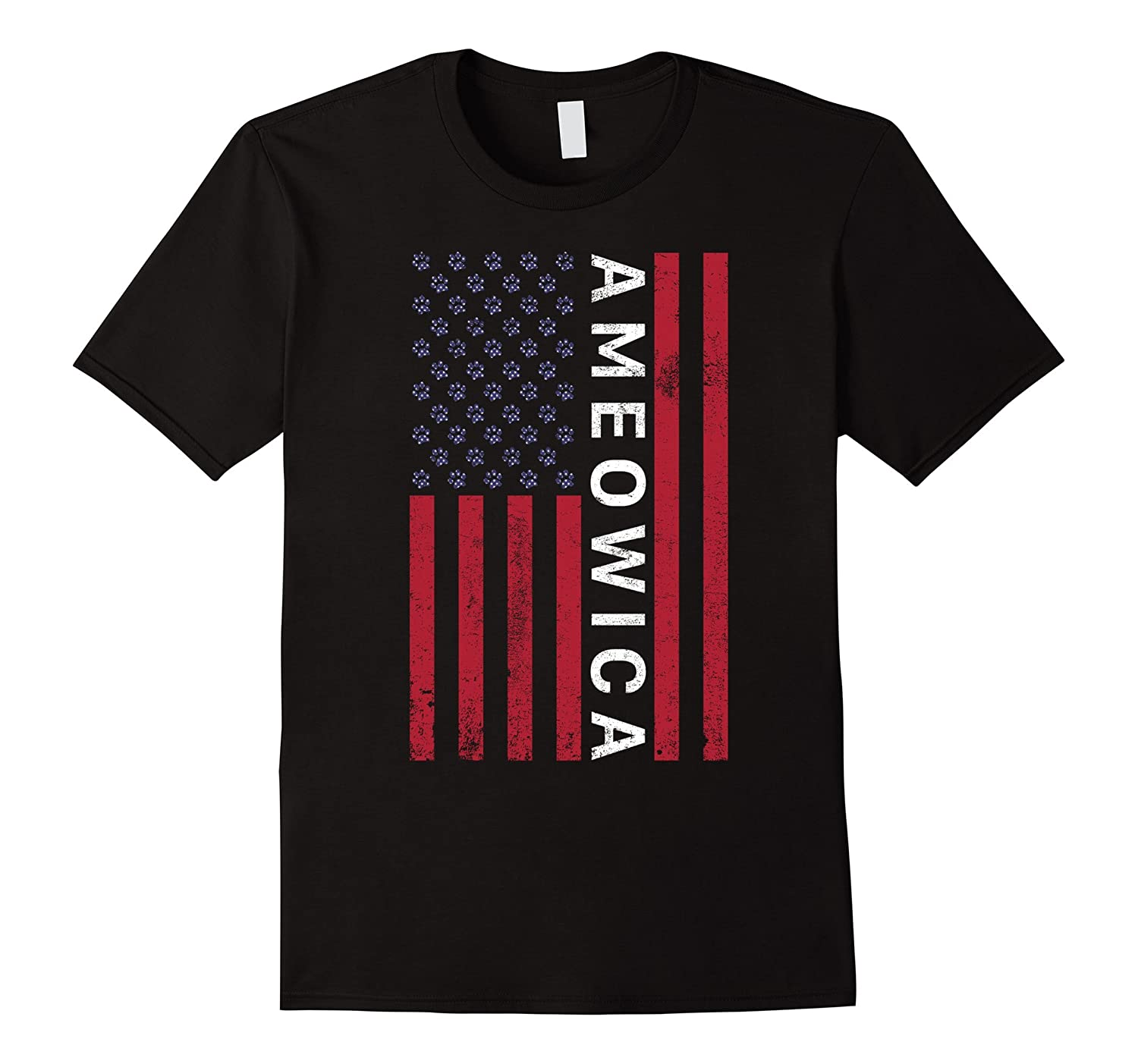Ameowica – Funny America Patriotic Cat 4th Of July T-Shirt
