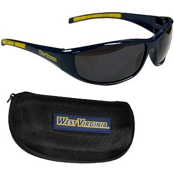 NCAA West Virginia montañeros Wrap gafas de sol y funda con ...