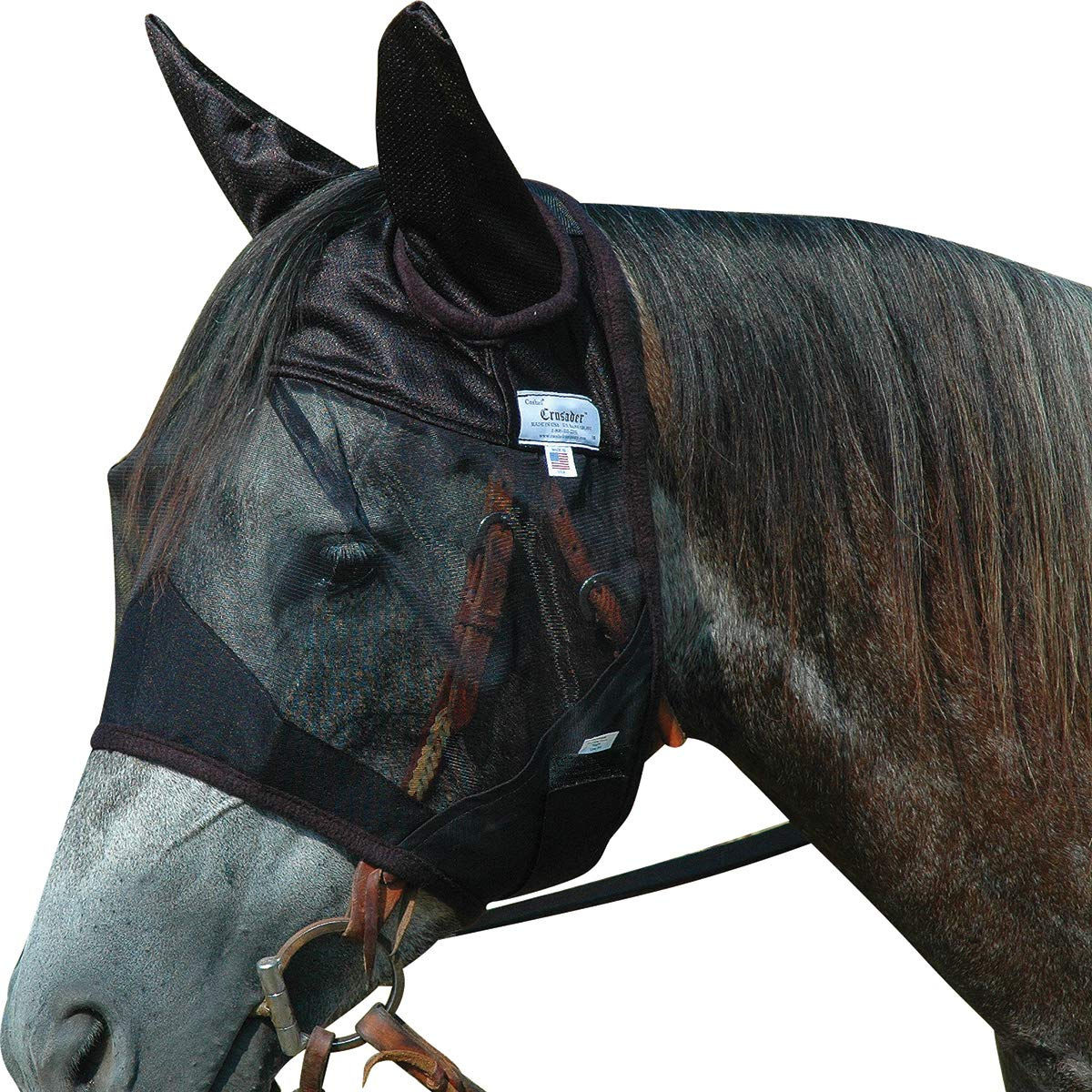 Cashel Quiet Ride Horse Fly Mask, Standard with Ears, Horse by Cashel