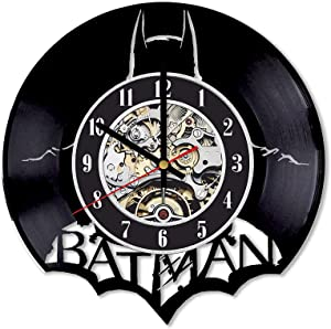 Batman Vinyl Clock, Batman Wall Art, Batman Wall Decor, Batman Room Decor, Batman Record Clock, Batman LP Clock, Batman Gifts