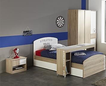 Komplette Kinderzimmer   Komplette Kinderzimmer Ohne Schreibtisch 90x200 Parisot Amazon De