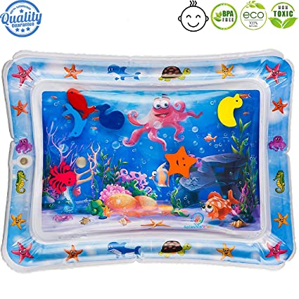 Amazon.com: Inflatable Baby Water Mat for Kids, Tummy Time ...