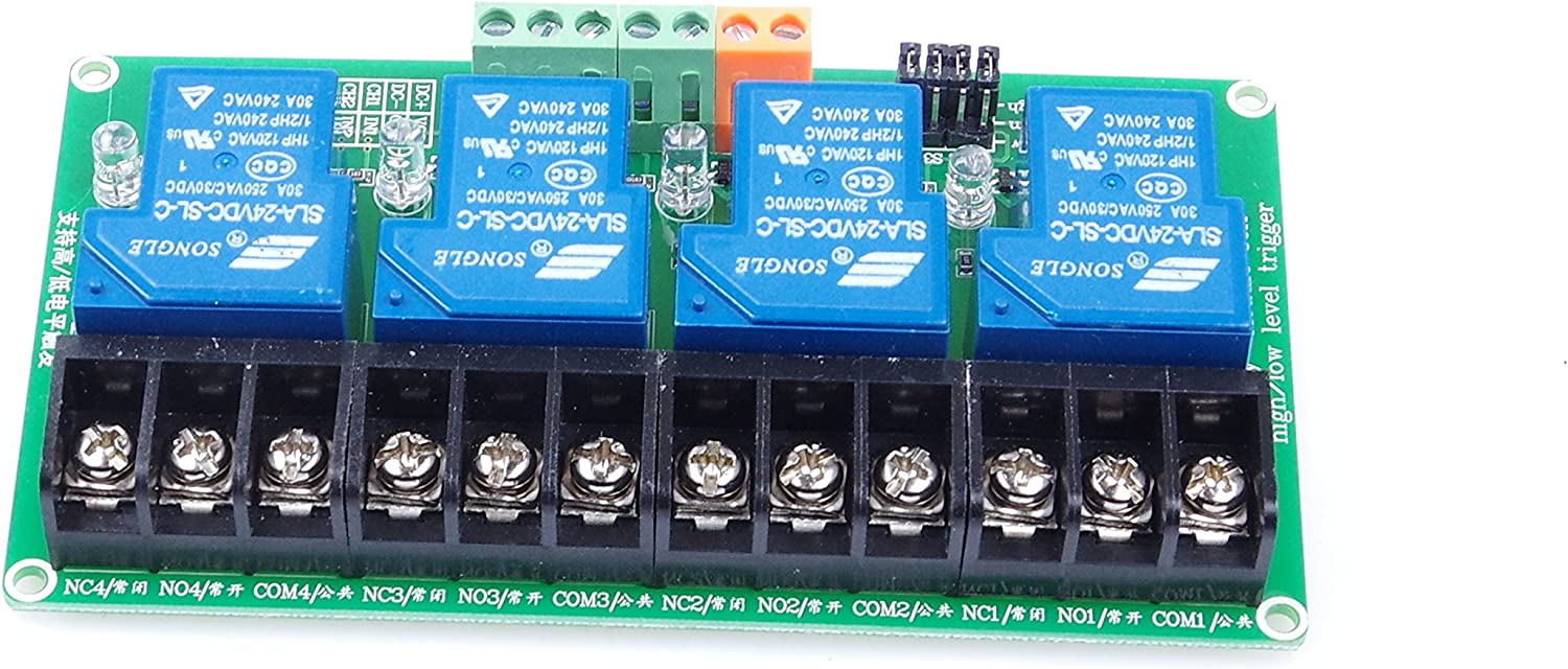 Industrial System Control 12V, 1-Channel Red KNACRO KNACRO 1-Channel DC 12V Relay Module High Low Level Triggering Optocoupler Isolation Load 30A DC 30V AC 250V for PLC Automation Control Arduino