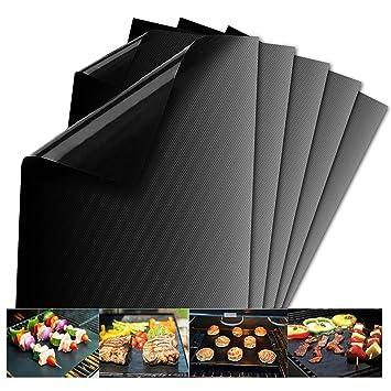 Juego de 5 BBQ Matte – Parrilla antiadherente Horno, teflón Papel cuché Chapa, reutilizables